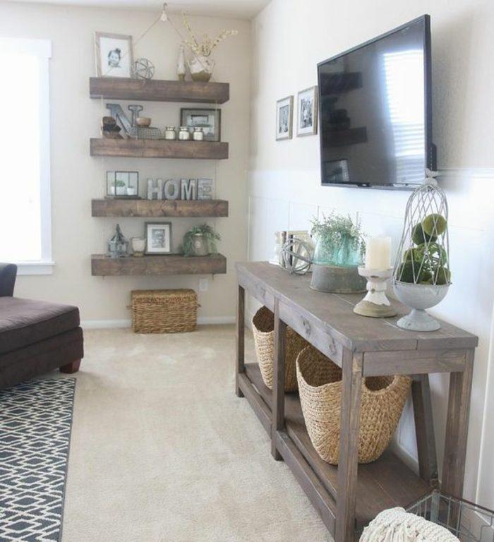 como-decorar-un-salon-con-muebles-de-madera