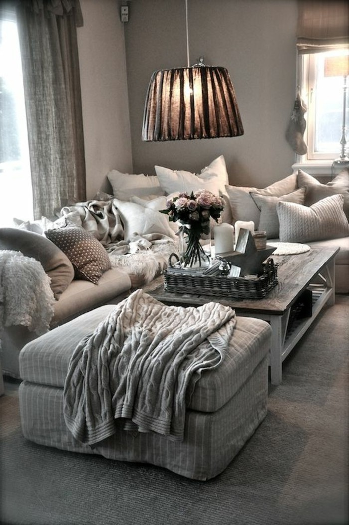 como-decorar-un-salon-en color-gris-muebles-cómodos
