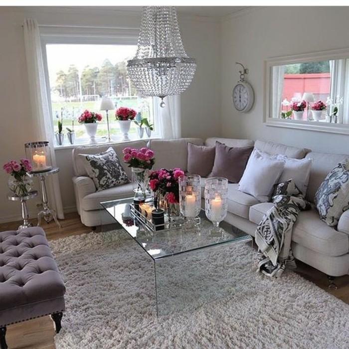 como-decorar-un-salon-estilo-elegante-rosas