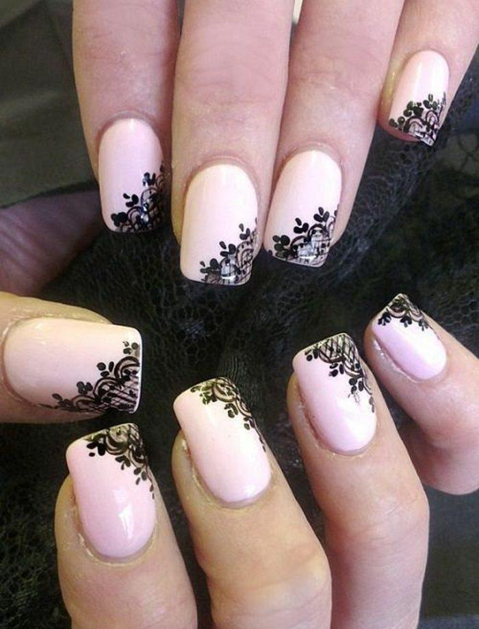 como-hacer-uñas-de-gel-decoración-elegante-color-rosa