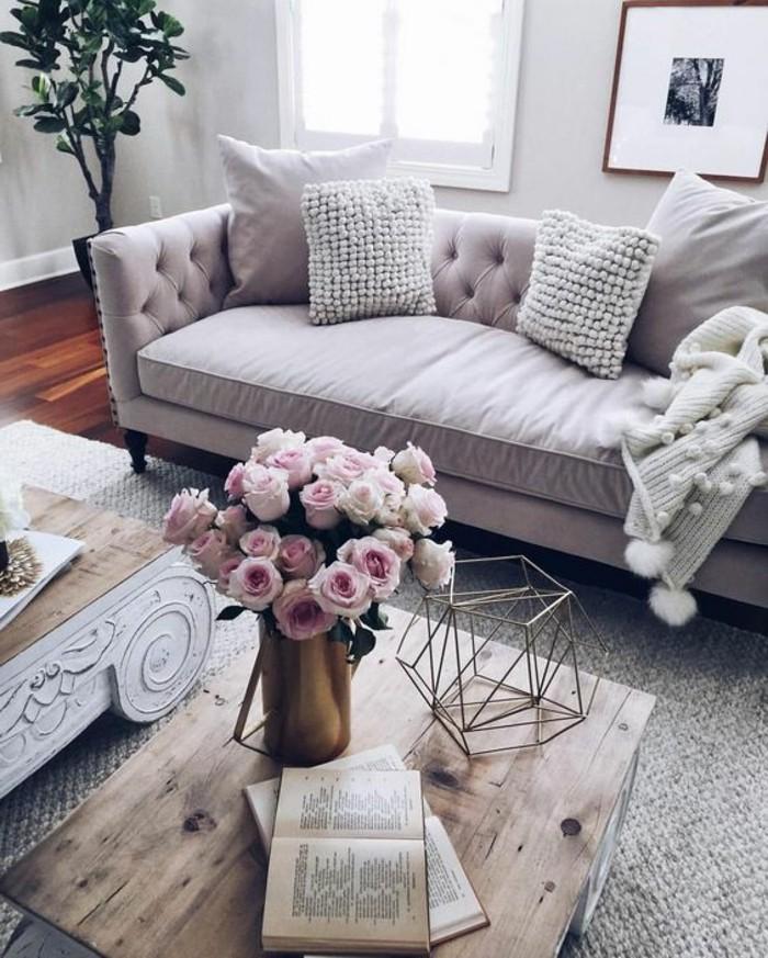 1001 ideas de c mo decorar un sal n en 5 pasos for Sofa estilo romantico