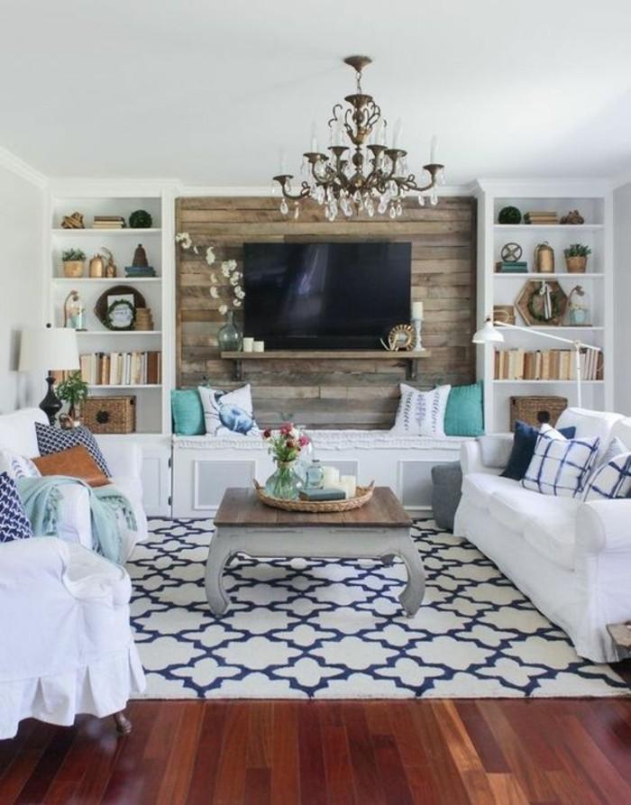 decoracion-salones-pequeños-tonos-naturales-muebles-de-madera