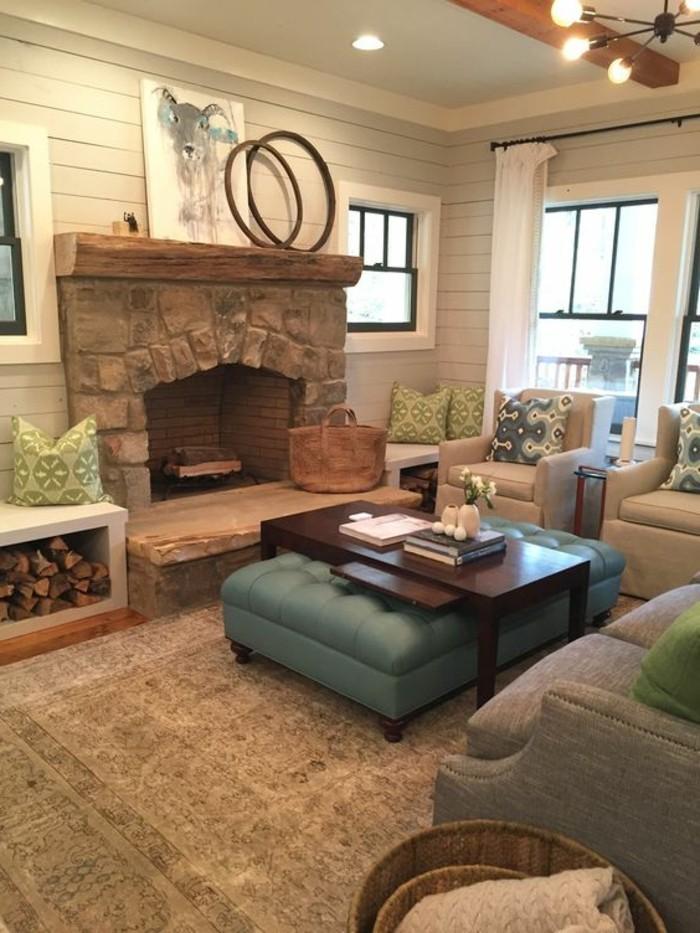 decorar-salon-hogar-de-piedra-cómodo