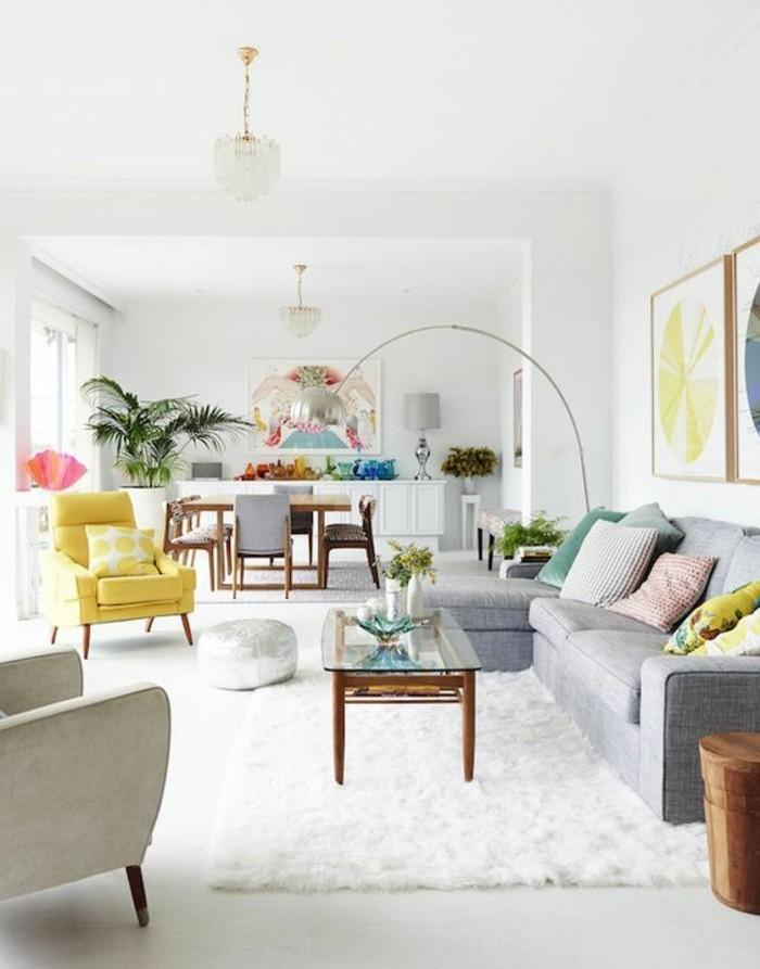 decorar-salon-sillon-en-amarillo-tonos-vivos-ideas-interesantes