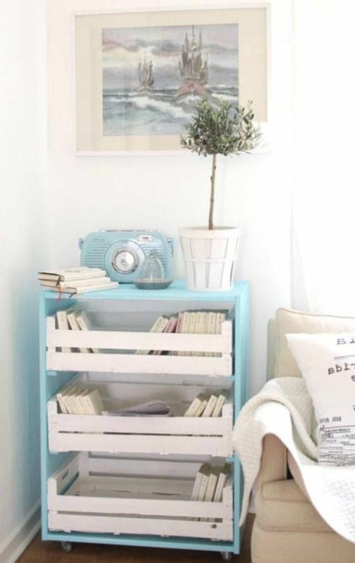 muebles-de-palets-ideas-de-mesita-de-noche-blanco-y-azul