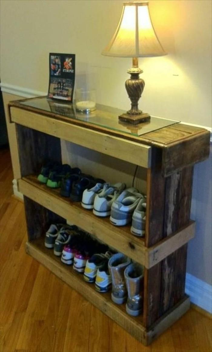 muebles-de-palets-para-los-zapatos-fácil