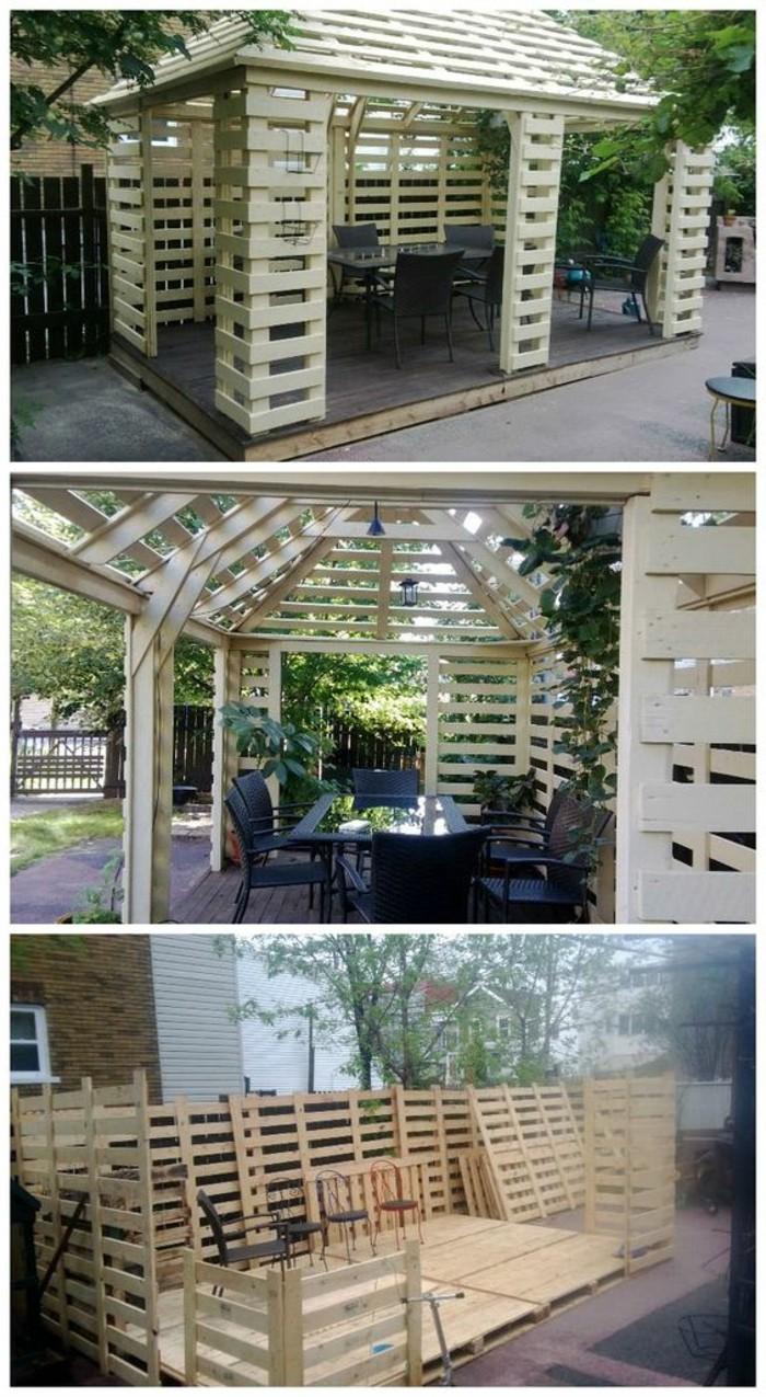 1001 ideas para hacer muebles con palets f ciles - Muebles de jardin hechos con palets ...
