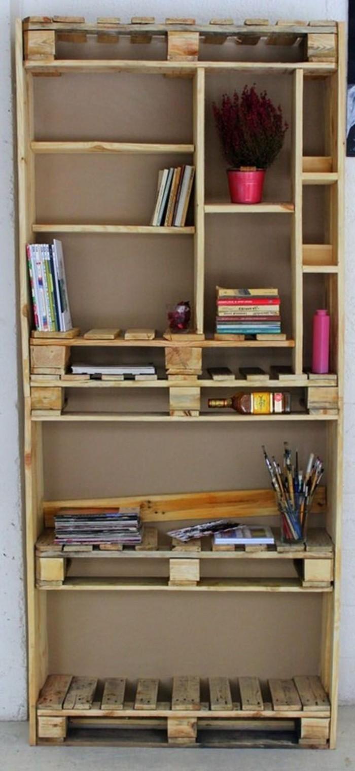muebles-hechos-con-palets-sección-de pared-simple