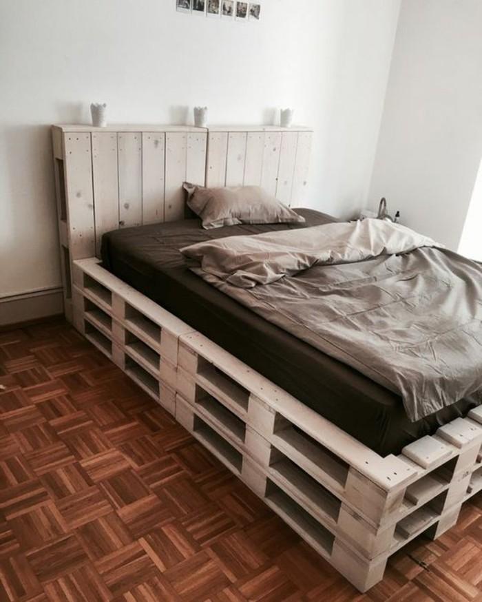 1001 ideas para hacer muebles con palets f ciles - Hacer cama con palets ...