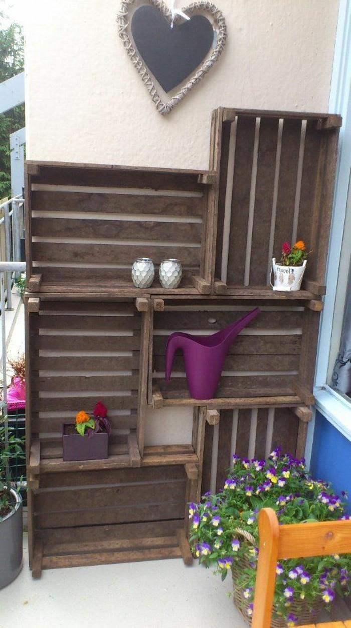 muebles-palets-decoración-de-pared-jardín