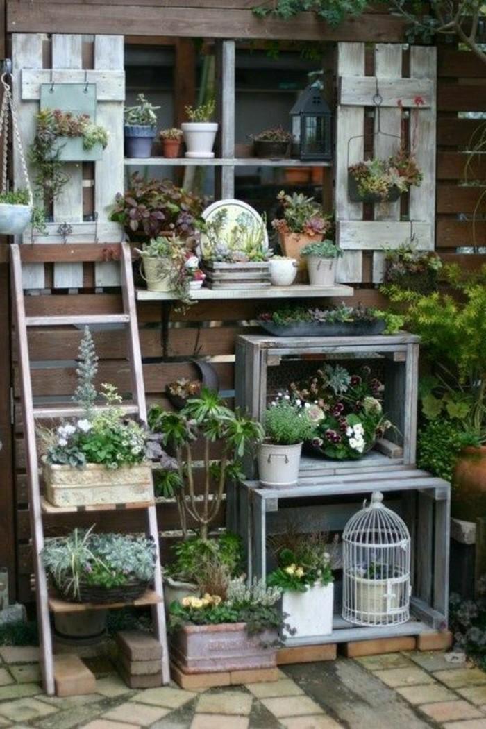 muebles-palets-plantas-de-decoración-para-el-jardín