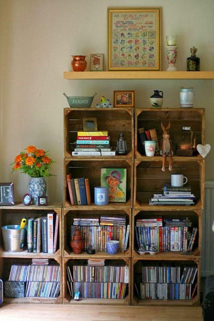 muebles-reciclados-estantería-de-libros-simple