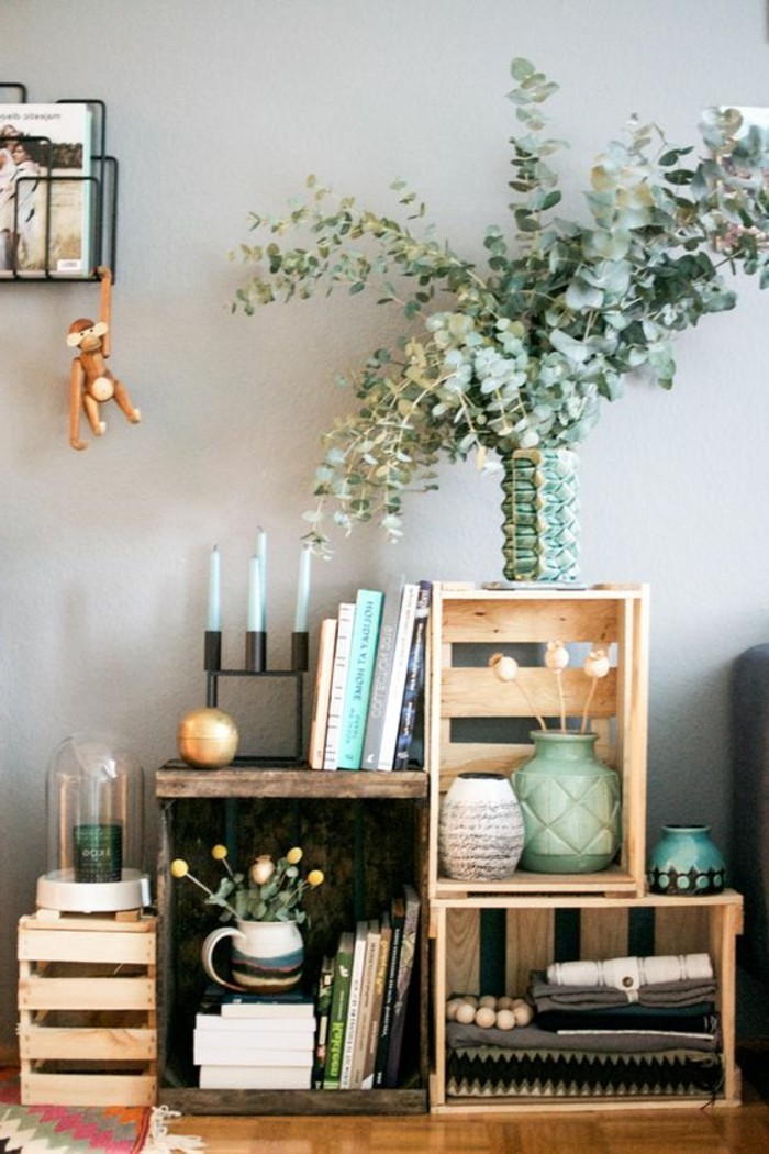 1001 ideas para hacer muebles con palets f ciles - Muebles reciclados con palets ...