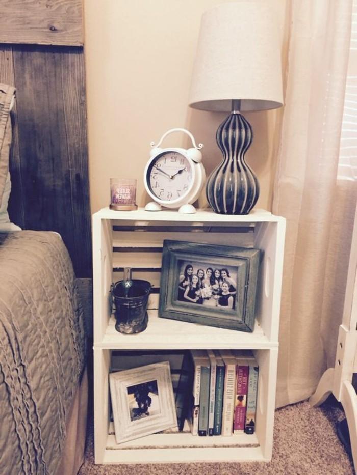 1001 ideas para hacer muebles con palets f ciles - Mesita de noche original ...