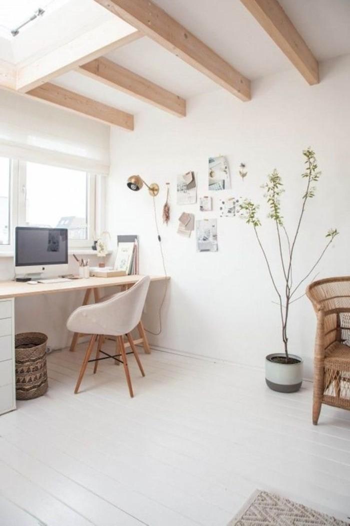 1001 ideas de muebles y casas en estilo escandinavo fotos - Techos de madera blanco ...