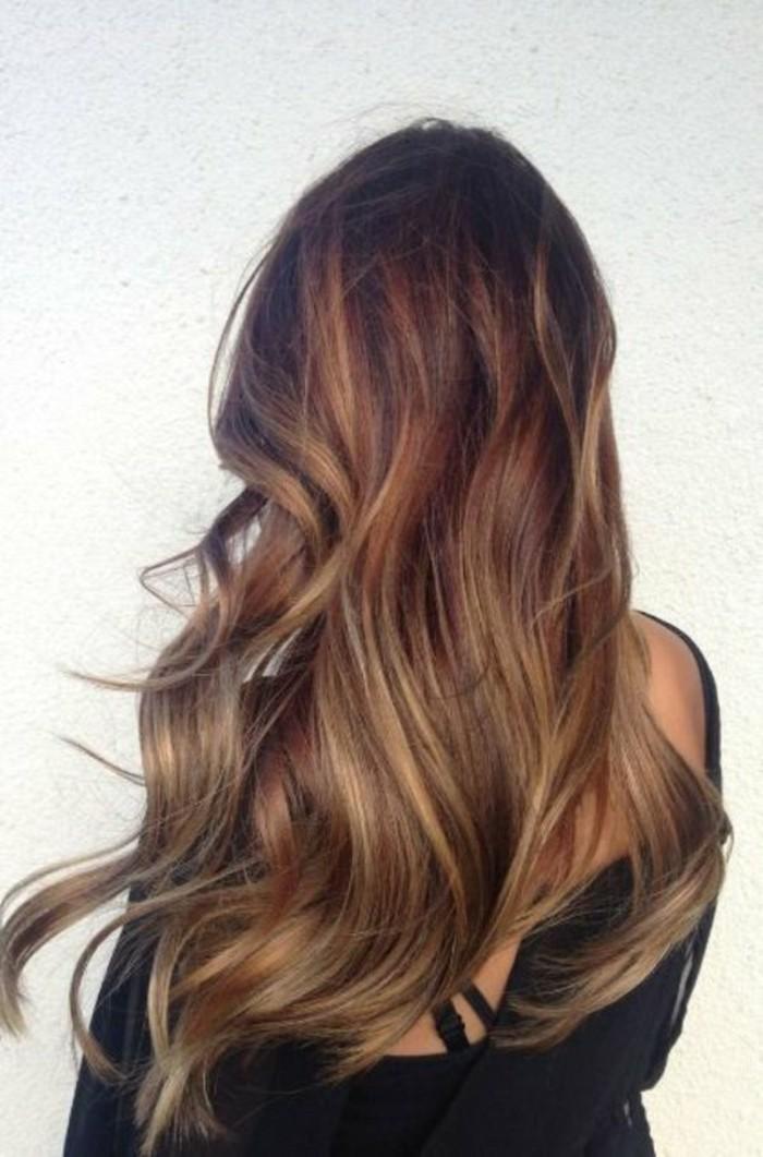 tintes-de-pelo-largo-castaño-puntos-rubios