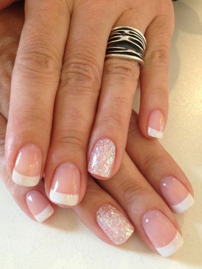 uñas-de-gel-francesas-decoración-gel-rosa