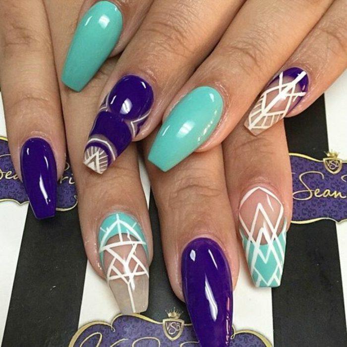 uñas-de-gel-paso-a-paso-decoración-y-dibujos-en-tonos-azules