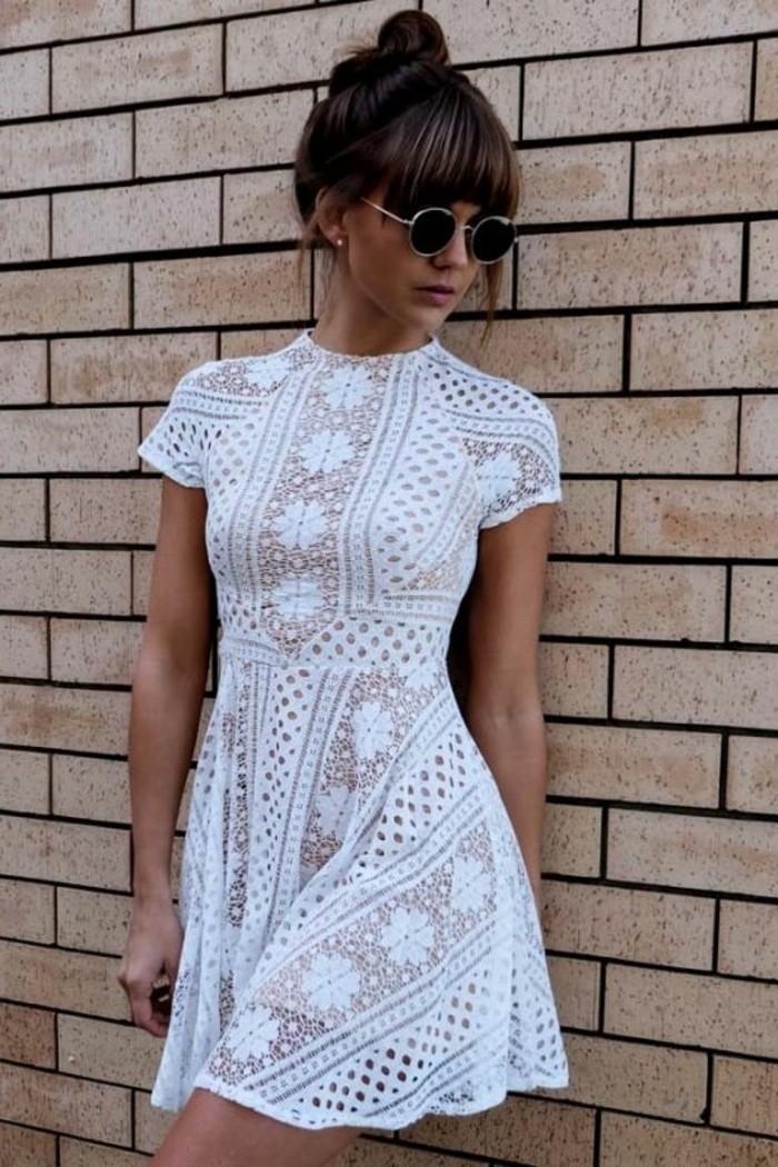 vestidos-coctel-blanco-corto-mangas-cortas