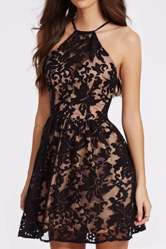 vestidos-de-fiesta-cortos-encaje-negro