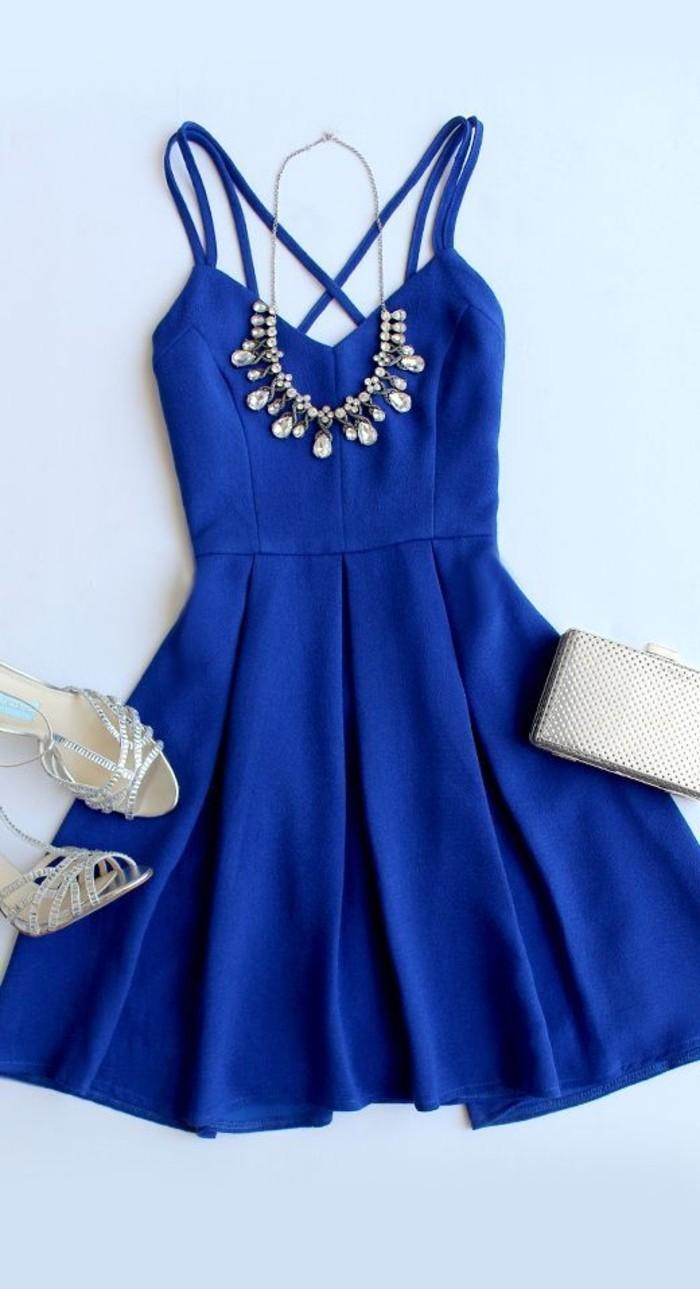vestidos-de-fiesta-cortos-azul-plisado