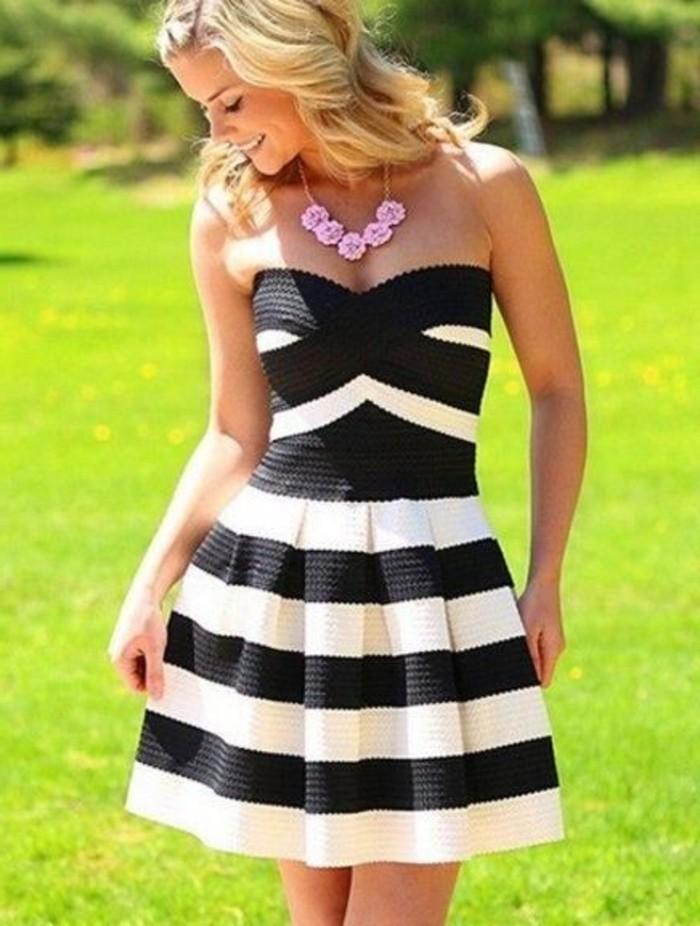 vestidos-de-fiesta-cortos-blanco-y-negro-escote-corazon