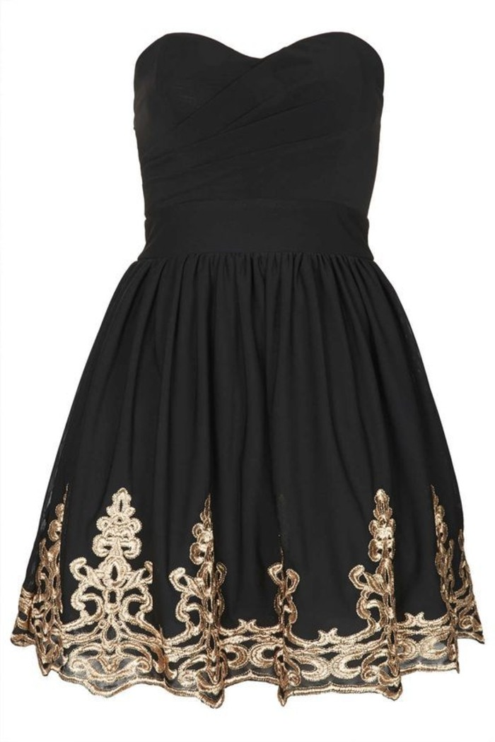 vestidos-de-fiesta-cortos-negro-bordado-escote-corazon