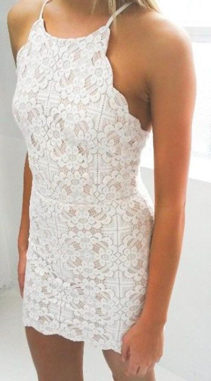 vestidos-de-noche-blanco-ajustado-encaje-bello