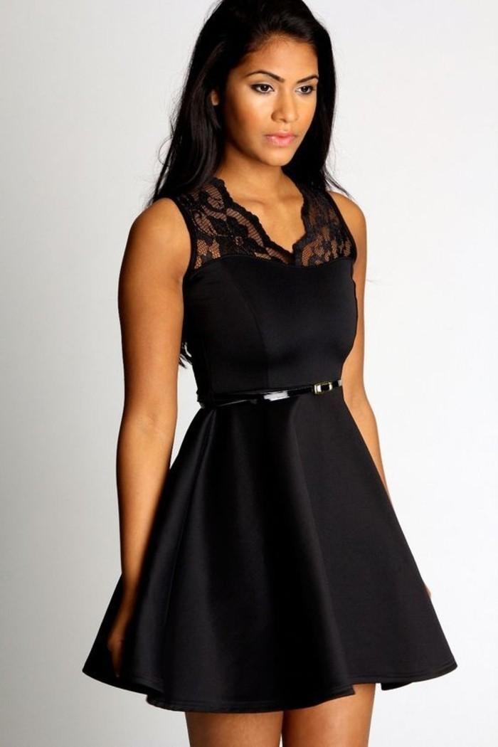 vestidos-de-noche-corto-y-negro-de-satén
