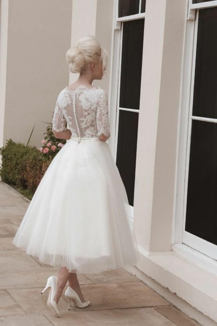Vestido De Novia Corto Elegante