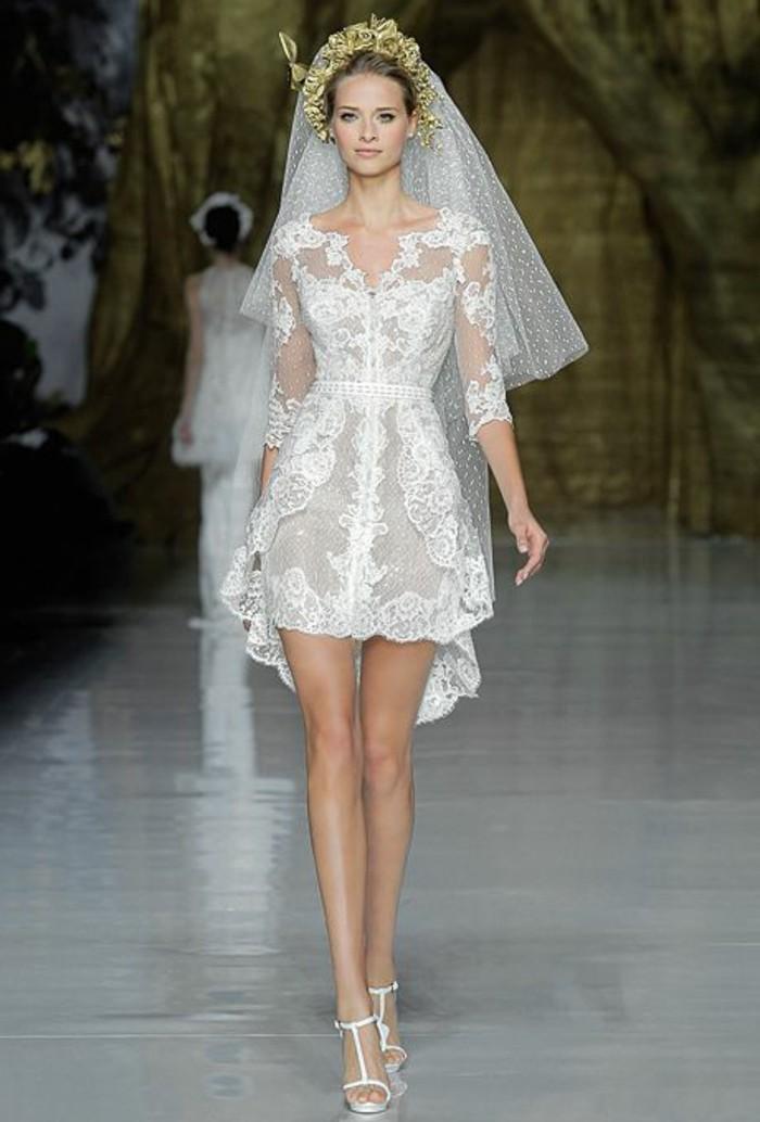 vestidos-de-novia-sencillos-encaje-muy-interesante-corto