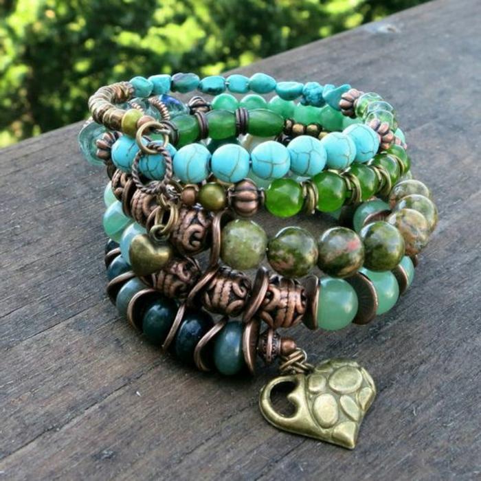 01-pulseras-de-moda-piedras-preciosas-elementos-de-metal-decoración-de-corazón