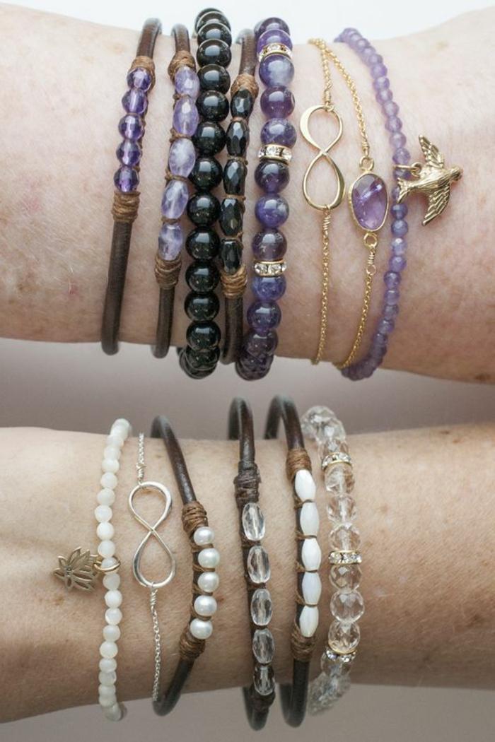 cómo-hacer-pulseras-de-diferentes-colores-piedras-preciosas-cuero