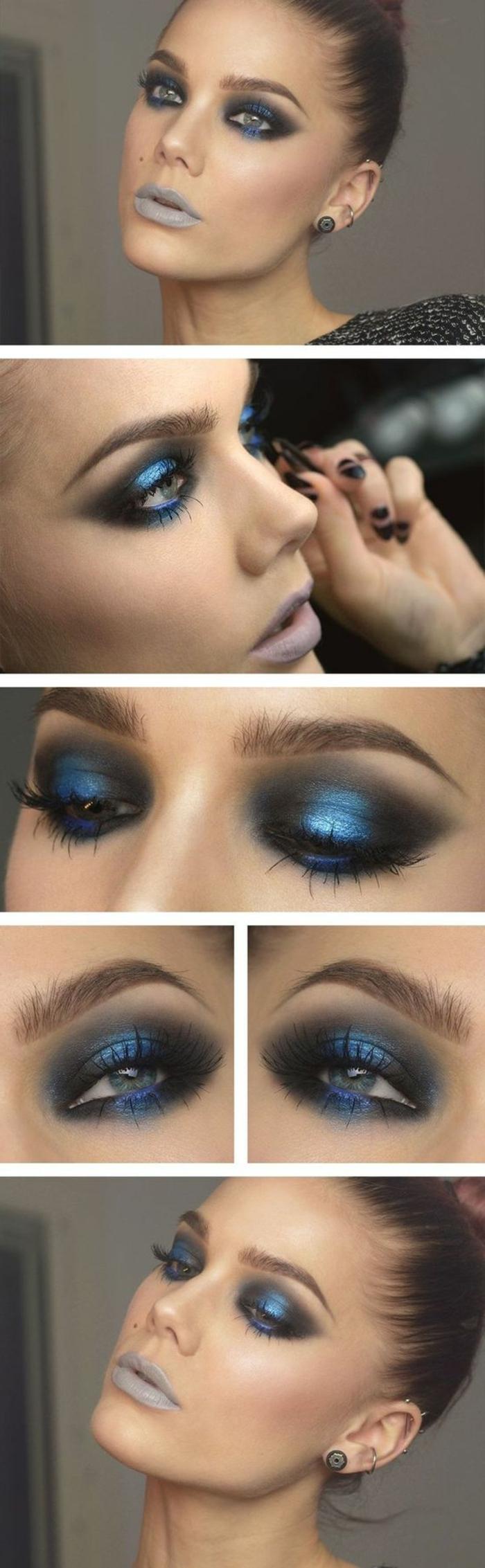 como-maquillarse-los-ojos-azules-en-tono-azul-negro-maquillaje-de-noche
