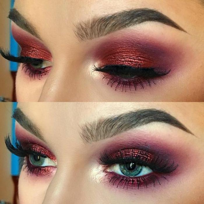 como-maquillarse-los-ojos-azules-maquillaje-tonos-rojos-ahumados