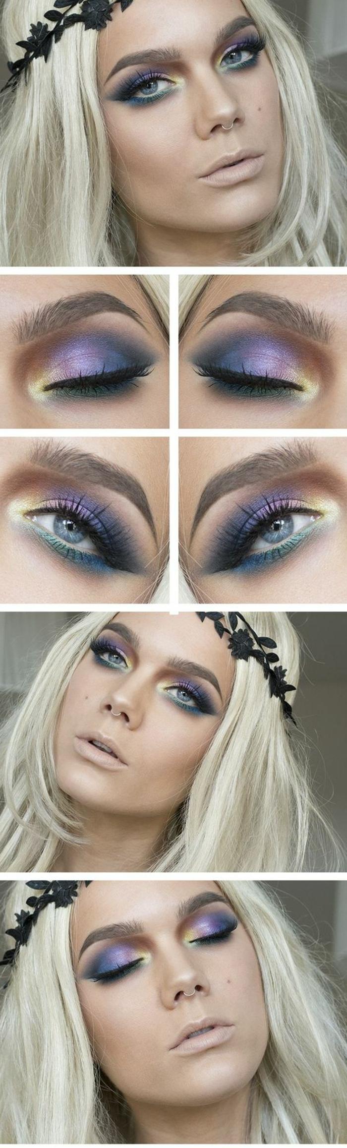 como-maquillarse-los-ojos-en-muchos-colores-linda-mujer-rubia