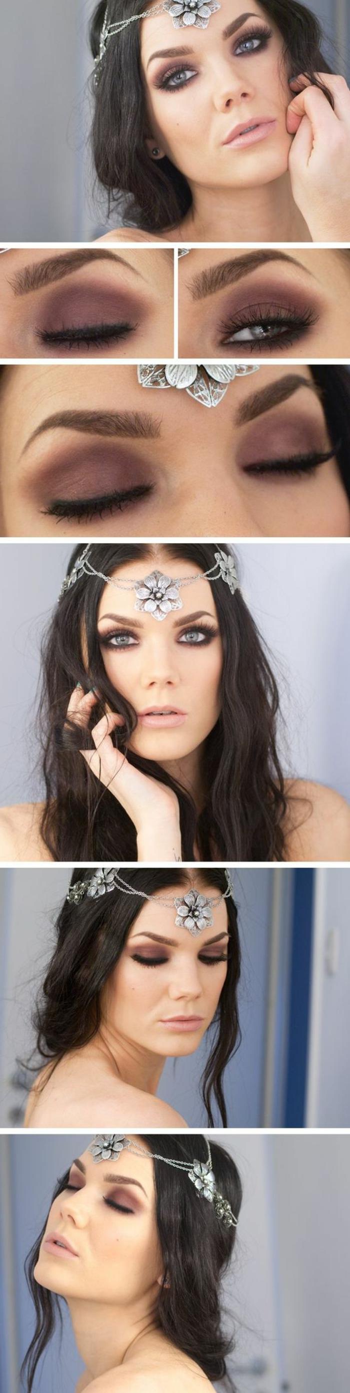 como-maquillarse-los-ojos-en-tono-violeta-ojos-azules-negro-bajo-el-ojo