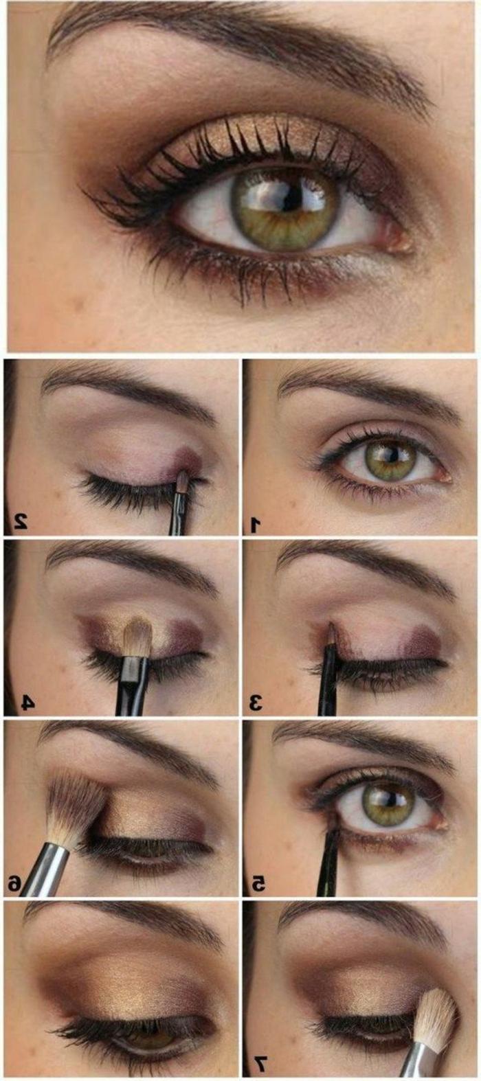 como-maquillarse-los-ojos-verdes-en-marron-y-oro-tonos-naturales