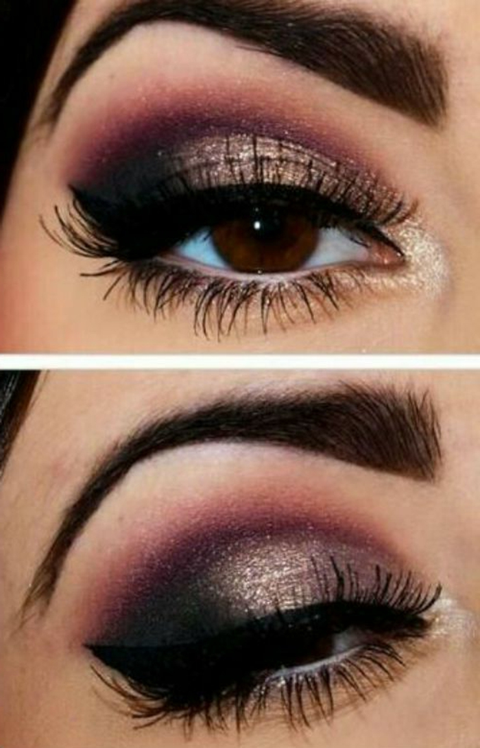 ojos-ahumados-de-bella-mujer-con-ojos-marrones-maquillaje-tonos-violeta-negro-oro