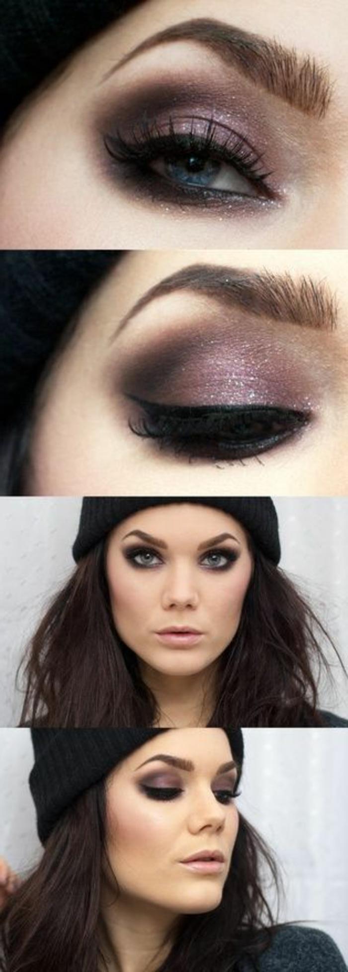 ojos-ahumados-linda-mujer-con-ojos-azules-tono-violeta-lápiz-de-ojos-negro
