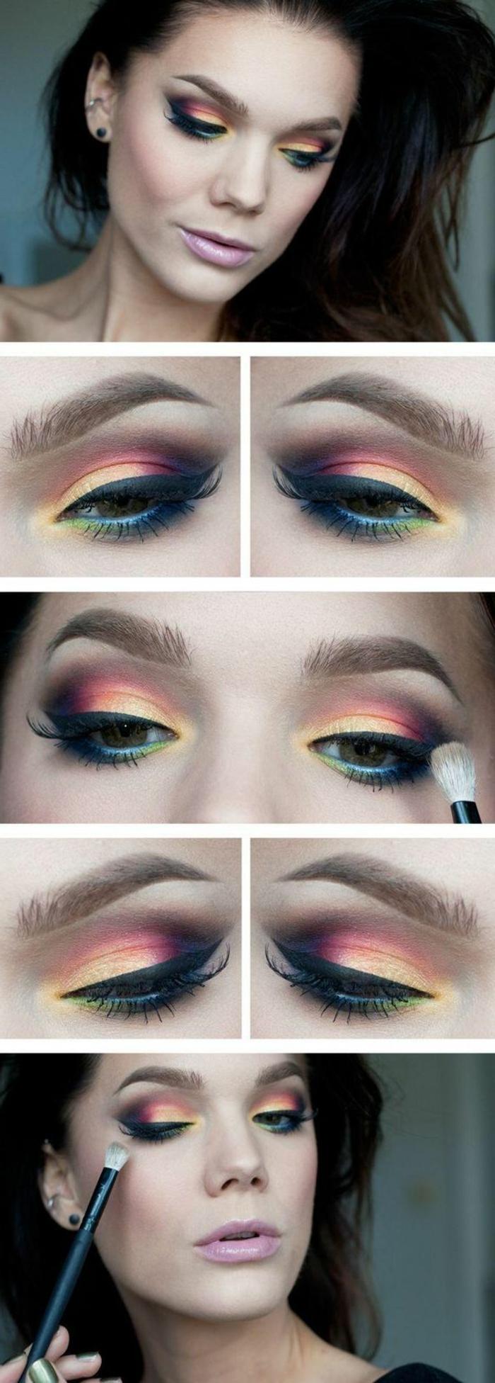 ojos-ahumados-mujer-con-maquillaje-de-ojos-multicolor-ojos-azules