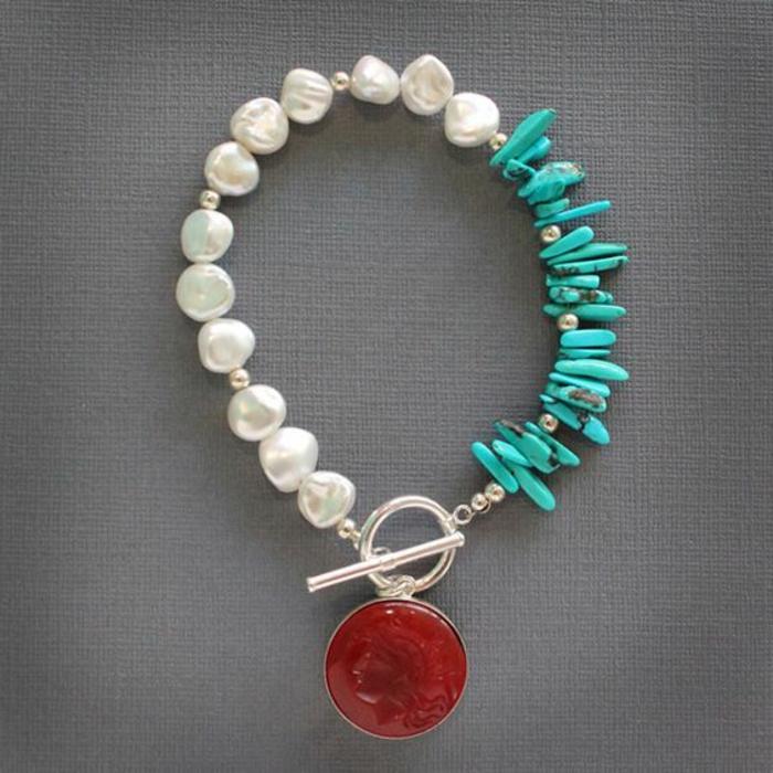 pulsera-de-plata-mujer-turquesa-perlas-piedras-preciosas