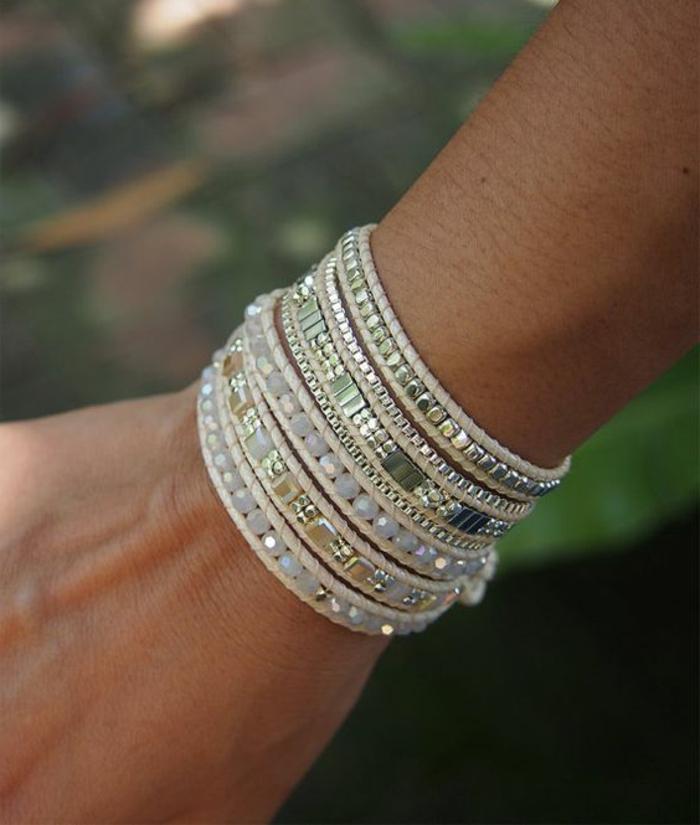 pulseras-de-moda-en-tonos-naturales-piedras-artificiales-cuero