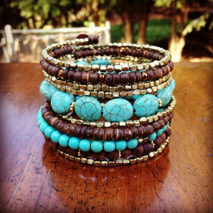 pulseras-de-moda-piedras-preciosas-perlas-de-madera-perlas-de-metal