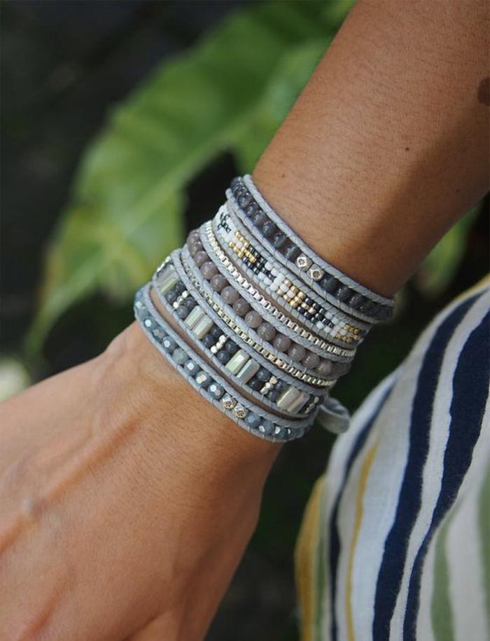 pulseras-de-moda-tonos-grises-piedras-artificiales-piedras-de-metal