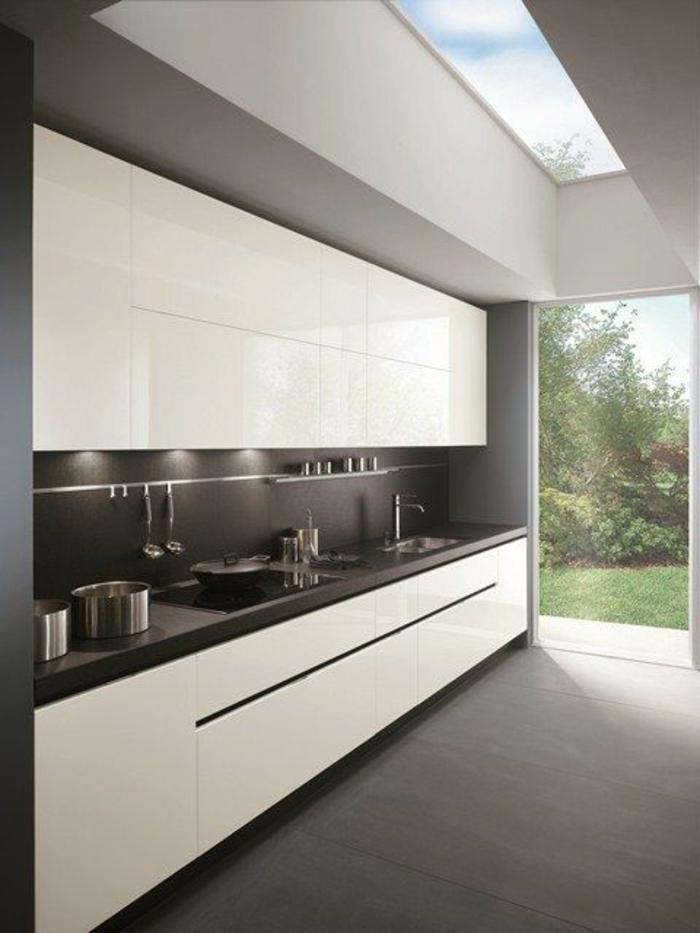 1001 ideas de decorar vuestra cocina blanca y gris - Cocinas blancas y gris ...