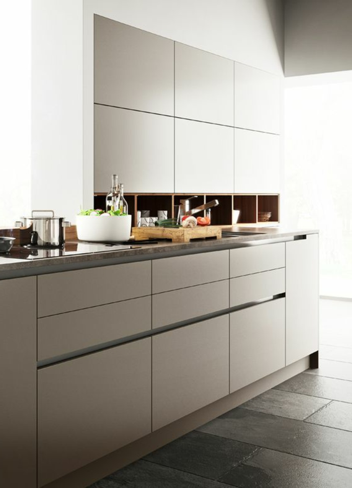 1001 ideas de decorar vuestra cocina blanca y gris for Cocinas blancas pequenas
