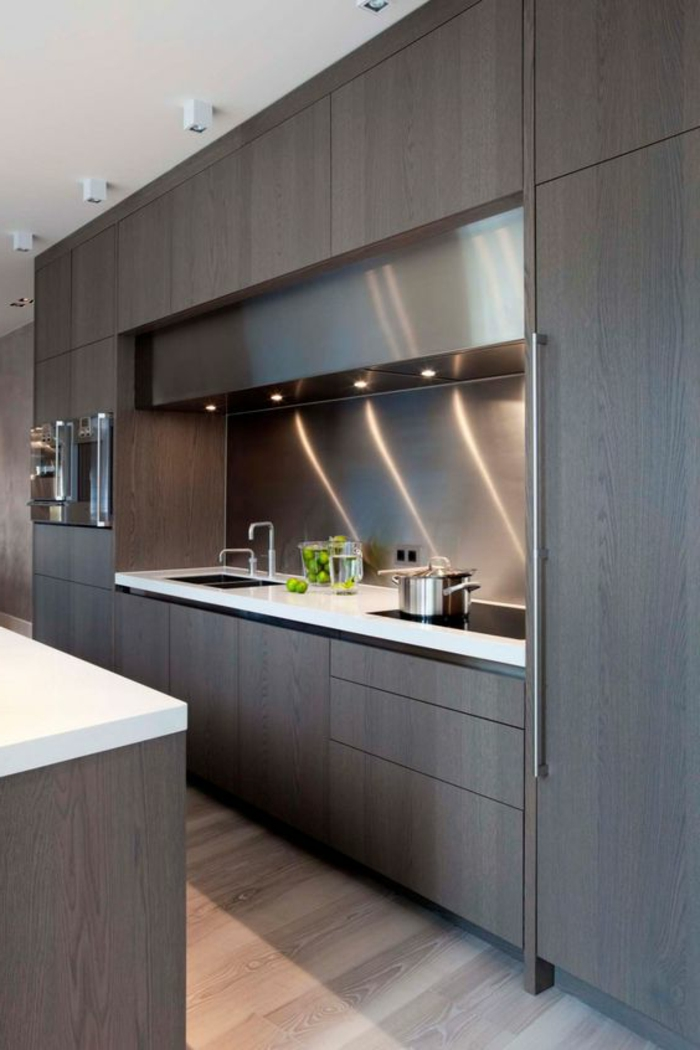 1001 ideas de decorar vuestra cocina blanca y gris for Cocinas modernas en gris y blanco