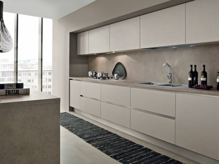 1001 ideas de decorar vuestra cocina blanca y gris - Azulejos cocina moderna ...