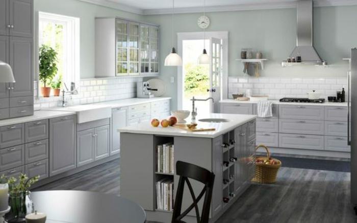 1001 ideas de decorar vuestra cocina blanca y gris for Suelo cocina gris antracita